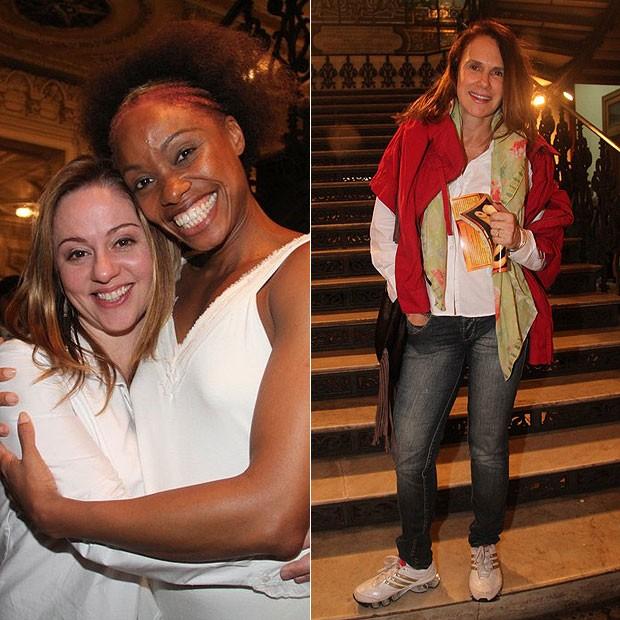 Guta Stresser recebeu o carinho de amigas como Vanessa Pascale e Xuxa Lopes (Foto: Onofre Veras/AgNews)