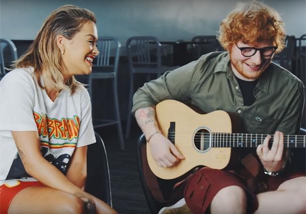 Ed Sheeran e Rita Ora fazem parceria (Foto: Reprodução)