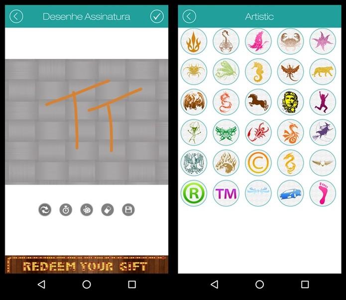 O aplicativo possui diferentes tipos de marca dágua (Foto: Felipe Alencar/TechTudo)