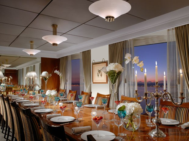 Mesa de jantar da suíte do Hotel President Wilson (Foto: Divulgação/President Wilson)