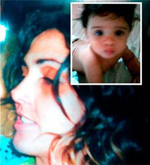 Josenilde e o filho de oito meses (Foto: Cedida/arquivo da família)