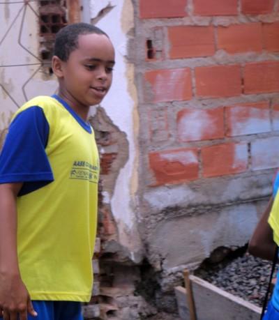 Crianças que fazem parte do projeto social de canoagem de Ubaitaba (Foto: Raphael Carneiro)