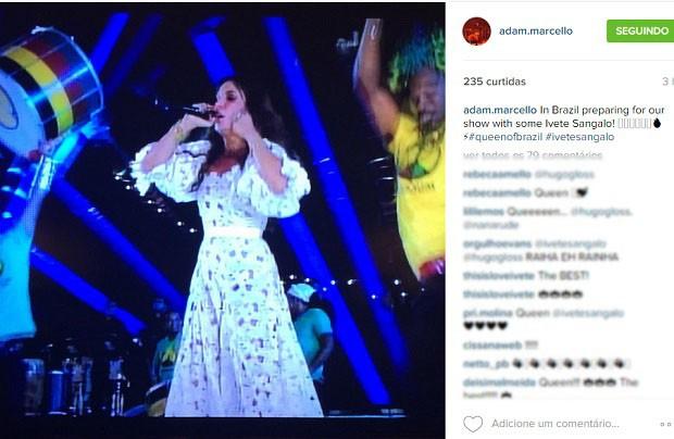 Post do baterista de Katy Perry (Foto: Reprodução/Instagram)