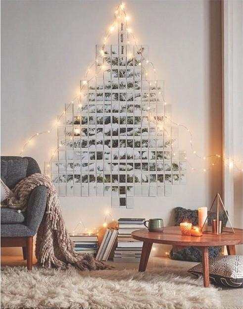 Árvore de Natal com fotos da família e luzes: como não amar? (Foto: @izazicari)