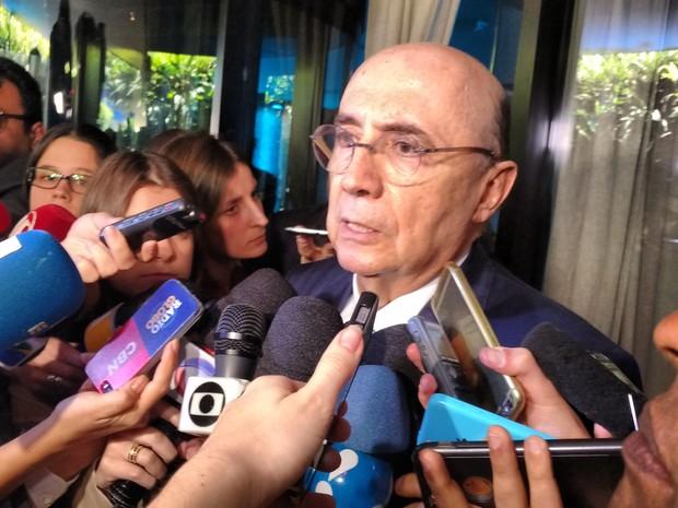 Ministro da Fazenda, Henrique Meirelles, fala a jornalistas em São Paulo (Foto: Karina Trevisan/G1)