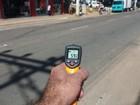 Termômetro registra 59,6°C no asfalto das ruas de Colatina no ES