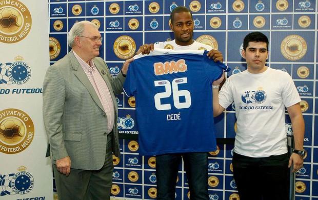 Dedé apresentação Cruzeiro (Foto: Washington Alves / Vipcomm)