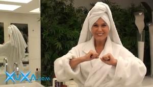 Xuxa: fazendo suspense sobre seu cabelo castanho (Foto: Divulgação)