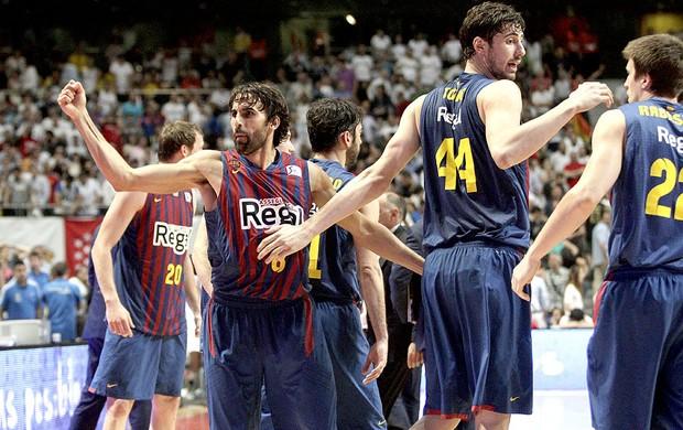 basquete Barcelona Regal comemoração jogo Real Madrid (Foto: EFE)