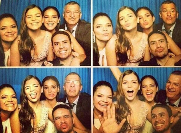 Luana Marquezine com os pais, Bruna Marquezine e Diego Maia (Foto: Reprodução)