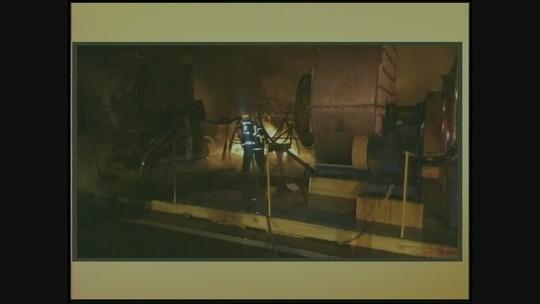 Incêndio deixa bombeiro ferido e causa explosões no Sul de SC