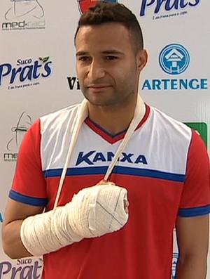 Camilo, goleiro do Grêmio Prudente (Foto: TV Fronteira / Reprodução)