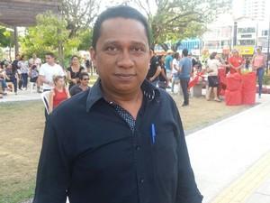 protesto, Fora Temer, Amapá, Macapá, movimentos sindicais, reforma (Foto: Jorge Abreu/G1)