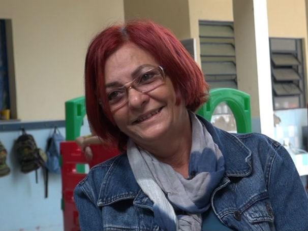 Maria José Ramalho Lemos Duarte, UMEI Senador Vasconcelos Torres, Sou Professor (Foto: Reprodução de TV)
