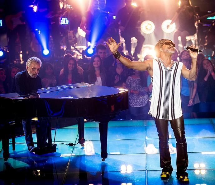 Carlinhos Brown encanta plateia do programa (Foto: Isabella Pinheiro/Gshow)