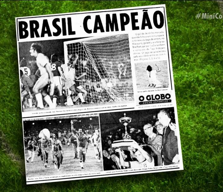Em 1972, Brasil venceu a MiniCopa