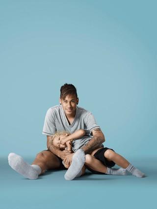 Neymar e Davi Lucca (Foto: Divulgação )