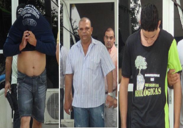 Rubens Junior (esq.), Paulo Henrique (centro) e Janilson Junior (dir.). (Foto: Roberta Cólen/ G1)
