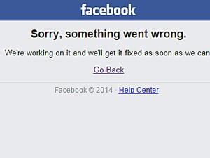 Página apresenta mensagem de erro (Foto: Reprodução)