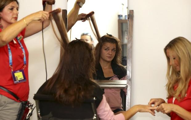 Radwanska cabeleireiro Aberto da Austrália (Foto: Reuters)