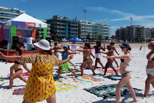 Atividades esportivas fazem parte da programação do Estação Verão da Inter TV (Foto: Divulgação/Inter TV)