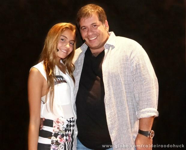 Leandro Hassum se declara para filha Pietra (Foto  Caldeirão do Huck TV  Globo ad0bd58842