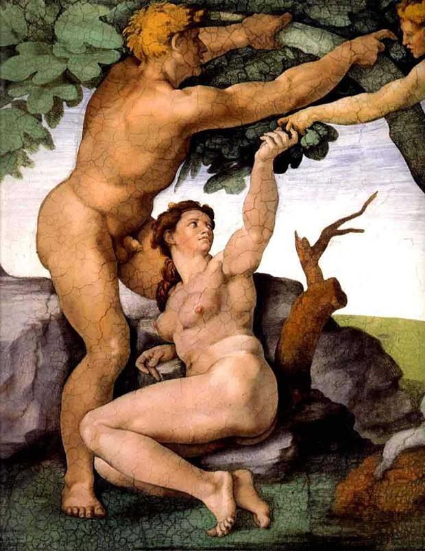 Adão e Eva Michelangelo (Foto: reprodução)