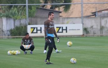 Marcelo Grohe volta a treinar, e Renato mantém indefinições para o Gre-Nal