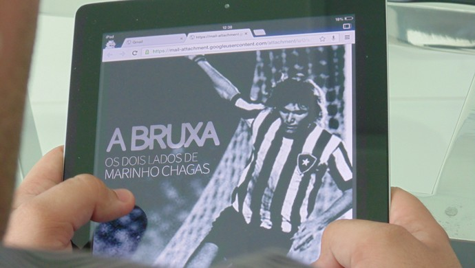 Biografia de Marinho Chagas, escrita pelo jornalista Luan Xavier (Foto: Ferreira Neto/GloboEsporte.com)