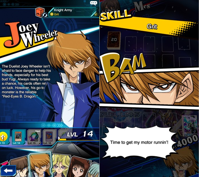 Yu-Gi-Oh! Duel Links: habilidades de Joey são baseadas em sorte (Foto: Reprodução/Vinícius Mathias)
