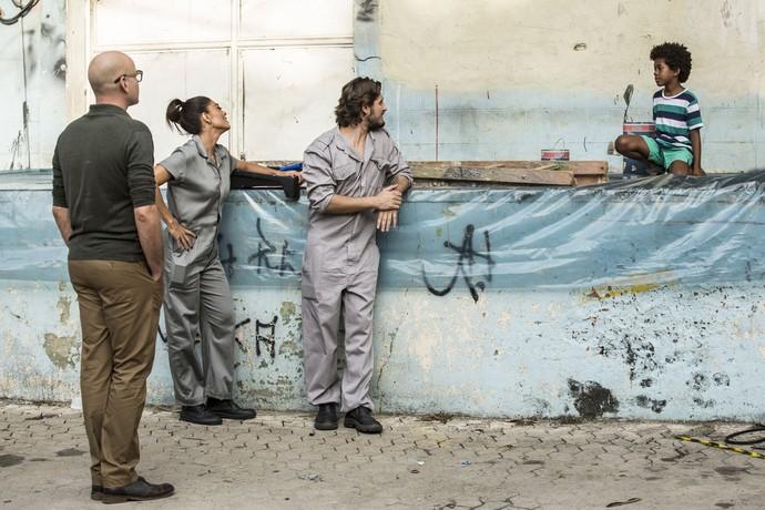 Pietro e Gabriel acompanham a dupla (Foto: Inácio Moraes/Gshow)