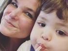 Cristiana Oliveira se derrete pelo neto, Miguel: 'O amor da minha vida'