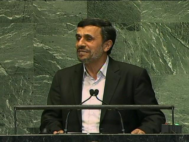Mahmoud Ahmadinejad discursa na Assembleia Geral da ONU (Foto: Reprodução Globo News)