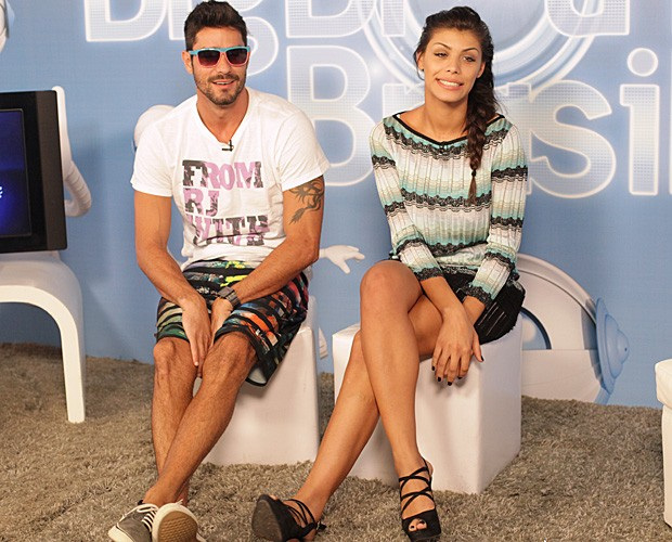 Diego e Fran no chat (Foto: BBB/TV Globo)