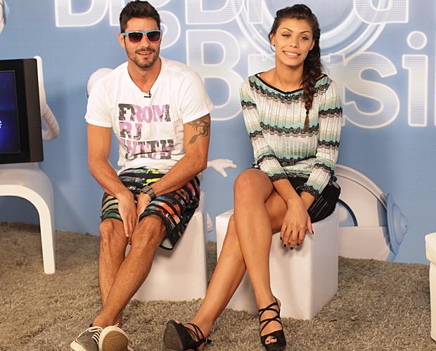 Diego e Fran no chat (Foto: BBB/TV Globo)