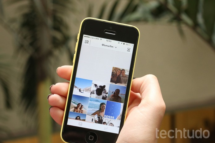 UNUM ajuda a organizar feed do Instagram (Foto: Carolina Oliveira/TechTudo)