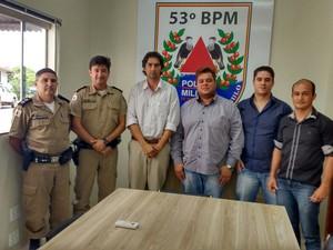 Reunião secretaria meio ambiente e pm Araguari (Foto: Secretaria Municipal de Meio Ambiente)