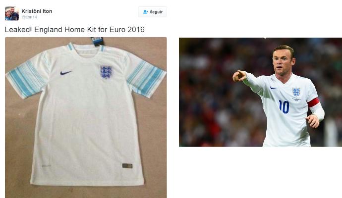 Possível nova camisa da Inglaterra para a Euro