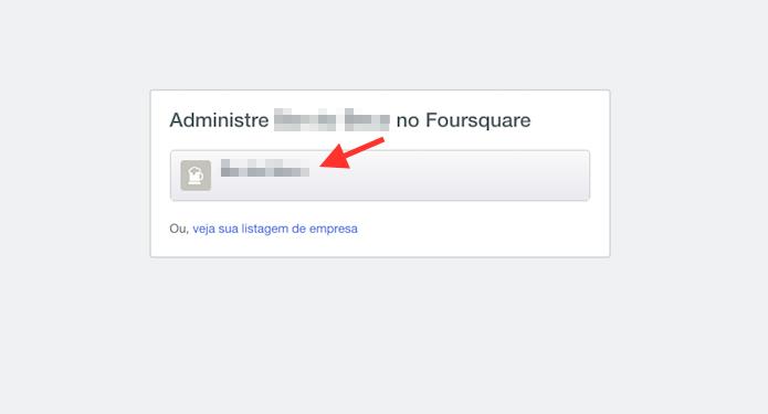 Acessando a página do restaurante ou loja para começar as edições no Foursquare (Foto: Reprodução/Marvin Costa)