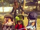 Luana Piovani posta foto com os filhos e se declara: 'Muito amor'