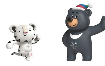 Jogos de Inverno de 2018 terão tigre branco e urso negro como mascotes