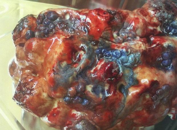 Bolo no formato de um rim doente ganhou de apelido de sobremesa mais nojenta do mundo. (Foto: Reprodução/Site oficial)
