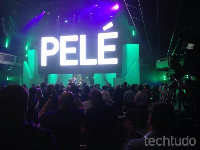 Pelé no palco da E3 (Foto: Felipe Vinha/TechTudo)