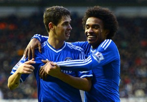 Willian e Oscar Chelsea (Foto: Getty Images)
