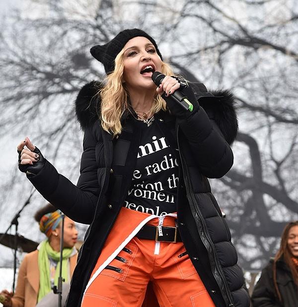 Madonna durante pocket show (Foto: Getty Images)