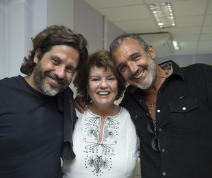 Pedro Vasconcelos, Elizabeth Jhin e Rogério Gomes   Estevam Avellar/TV Globo
