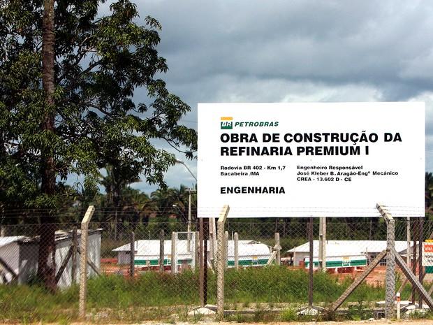 Construção da refinaria de Bacabeira (MA) foi iniciada em 2010 (Foto: Flora Dolores/O Estado/Arquivo)