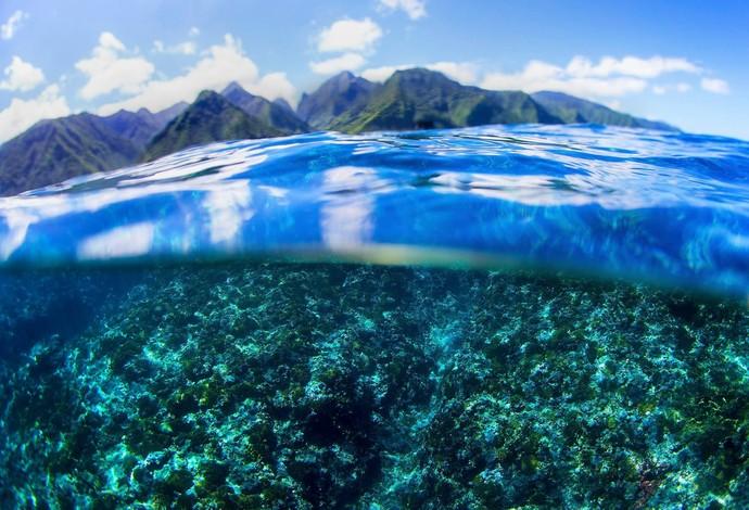 Visão de Teahupoo, a onda mais temida pelos surfistas no Circuito Mundial  no Taiti (Foto: Divulgação/ASP)