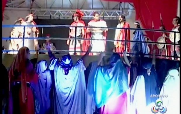 Espetáculo 'Paixão de Cristo' será apresentado em Ariquemes (Foto: Rondônia TV)