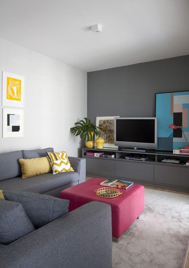 Apartamento alugado ganha poesia e identidade com tons pastel (Foto: Marco Antonio)